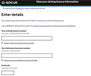 view driving licence